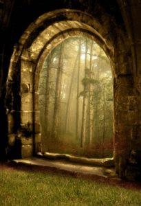 Garden Gate at Dawn